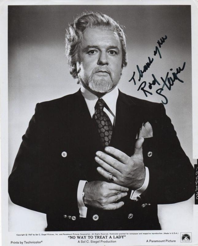 Rod Steiger Regis Autographs