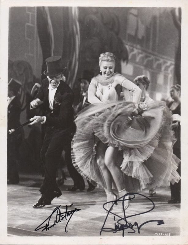 Fred Astaire Ginger Rogers Regis Autographs