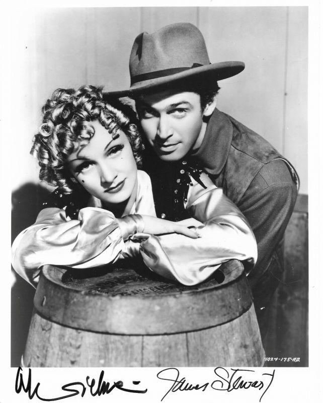 Marlene Dietrich & James Stewart – 'Destry Rides Again' – 1939 | Regis  Autographs